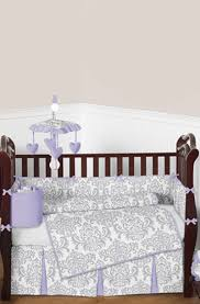 Lavender And Grey Crib Bedding Lavender And Gray Elizabeth Baby Bedding 9 Crib Set Color