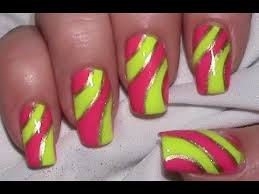 nagellack designs neon nageldesign mit nagellack selber machen nail design