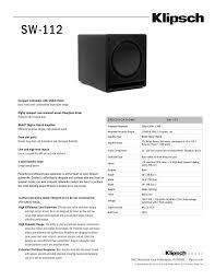 download free pdf for klipsch sw 12 subwoofer manual