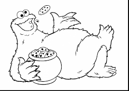 surprising baby cookie monster coloring pages with cookie monster
