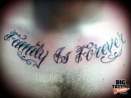 famiuly is forever on chest tattooshunt com