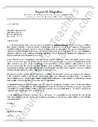 vice principal cover letter