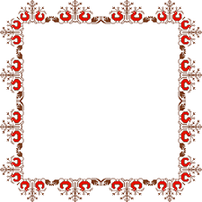 border with traditional ornament free printable papercraft templates