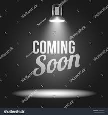 Christmas Light Projectors by Coming Soon Message Illuminated Light Projector Stock Vector