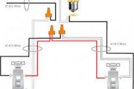how to wire a double switch to two separate lights diagram