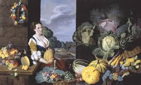 cookmaid with still life of vegetables and fruit u0027 sir nathaniel