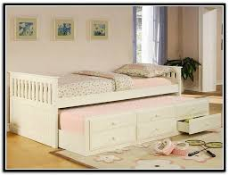 Daybed With Trundle And Storage White Trundle Bed With Storage Home Design Ideas