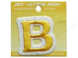 iron on letter