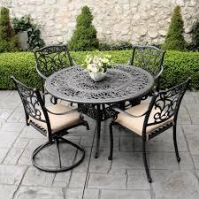 Patio Set Furniture - cast iron patio set table chairs garden furniture streamrr com