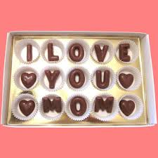 i love you mom large milk chocolate letters kawaii cool cute happy