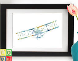 airplane watercolor etsy