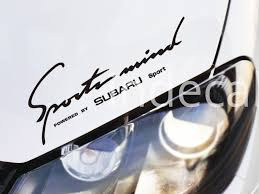 subaru decals 1 x subaru sticker for windshield or back window black
