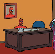 Spiderman Meme Desk - spiderman sitting at desk meme generator desk design ideas