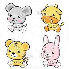 cartoon pictures of baby animals group 61
