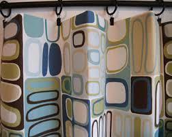 Modern Cafe Curtains Modern Cafe Curtains Etsy
