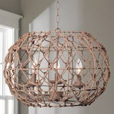 twig sphere chandelier or pendant light small shades of light rope frame mini chandelier