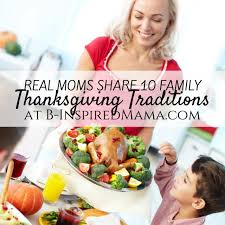 thanksgiving traditions from the mouths of on b
