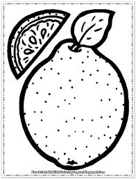 orange fruit printable coloring pages free printable kids