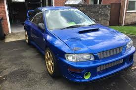 subaru impreza modified blue racecarsdirect com subaru impreza type r s6 wrc time attack