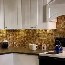 kitchen fasade backsplash waves in brushed aluminum paintable
