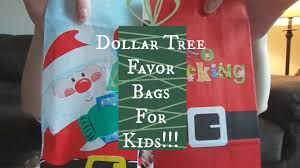 christmas goody bags christmas party favor bags for kids dollar tree haul