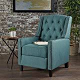 amazon com palermo tufted recliner dark teal tufted fabric power