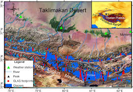 Kunlun Mountains Map Regional Glacier Mass Loss Estimated By Icesat Glas Data And Srtm