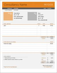 Illustration Invoice Template Excel Consulting Invoice Template Privatesoftware Info