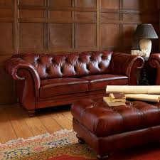 Red Leather Chesterfield Sofa by Chesterfield Sofa Leather 2 Seater Brown Heathcote