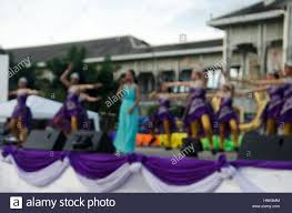 blurred motion of thai people sing folk song and country music