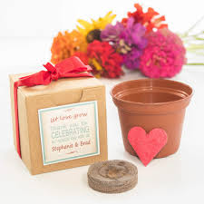flower seed wedding favors mini seed paper heart garden gift set party favors let grow