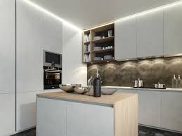 small modern kitchen ideas small kitchen design with hanging cabinet and bright lighting 4588