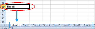 how to quickly insert sheet names in cells in excel