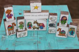 doodlecraft cute christmas nativity sets and stickers
