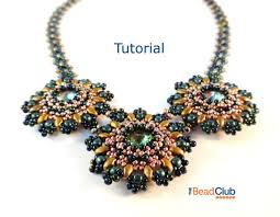 necklace patterns images Beaded necklace patterns right angle weave rivoli necklace jpg