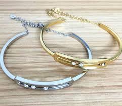 rose stone bracelet images Fashion france jewelry titanium steel moving stone move bracelets jpg