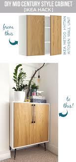 mid century modern storage cabinet turn the metod kitchen cabinet into mid century modern storage unit