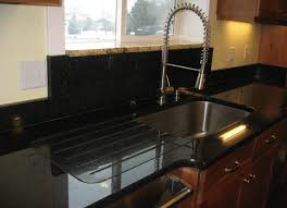 solid surface farmhouse sink kitchen sink granite with integrated drainboard more common with