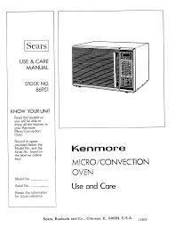 kenmore microwave oven microwave oven user guide manualsonline com