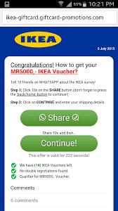 Ikea Malaysia by Finance Malaysia Blogspot Ikea Malaysia Whatspp Survery Phishing