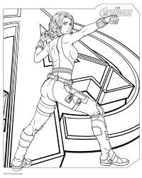download avengers coloring pages blackwidow avengers