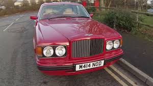 bentley 1995 1995 bentley brooklands in carmine red with sandstone interior