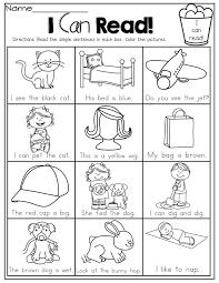 beginning reading worksheets for kindergarten free worksheets