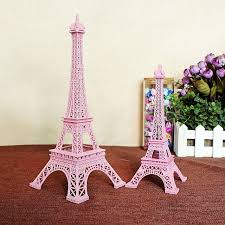 2pcs lot 25cm pink tower eiffel home decoration items vintage