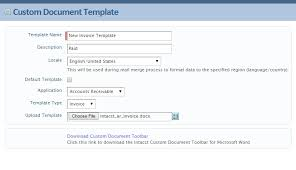 intacct customization documents u0026 custom invoices excelwizards