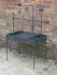 Fire Pit Rotisserie by Large Firebox Medieval Cooking Range Reenactment Larp Camping
