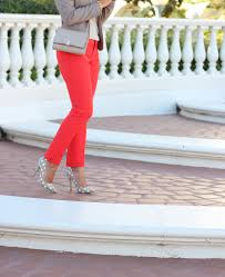 red pants and neutrals plus banana republic new arrivals