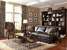 Living Room With Leather Sofa Bernhardt Leather Sofa Living Room Cantor Leather Sofa By