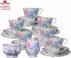 royal albert friendship series sweet pea 20pc tea set 1st eng