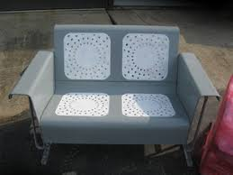 Old Metal Outdoor Furniture by How To Refinish Your Own Metal Glider And Vintage Metal Patio